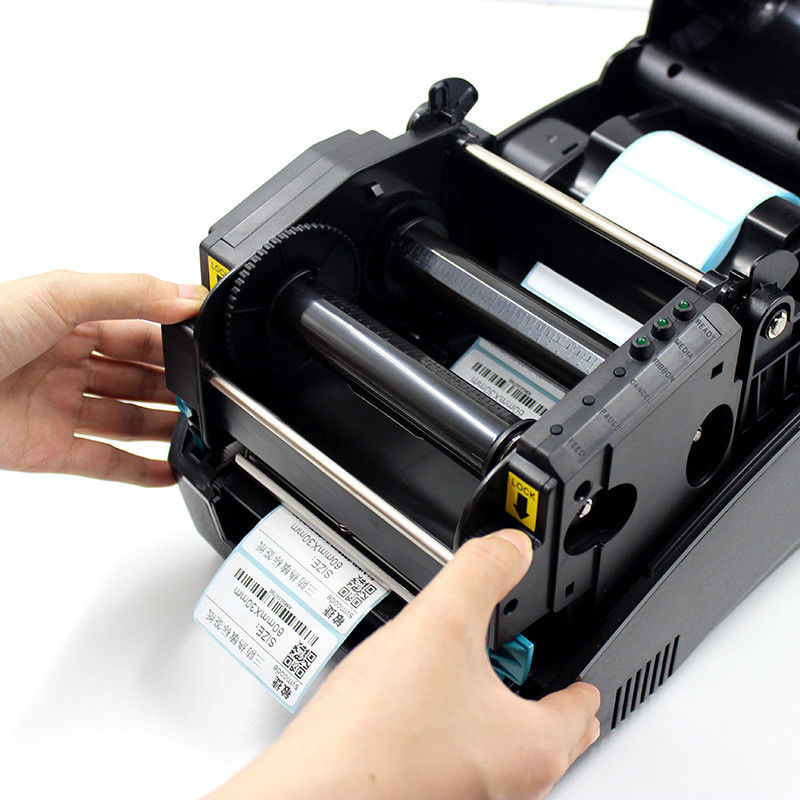 Industrial Direct Thermal Label Printer Adjustable Reflective Media Sensor